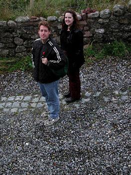 Jillian and Ivan on a walk.