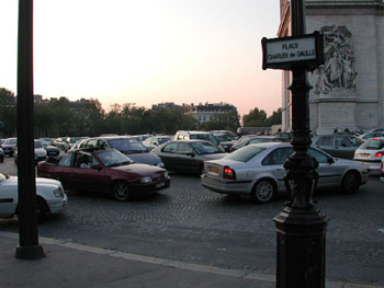 A French traffic jam.
