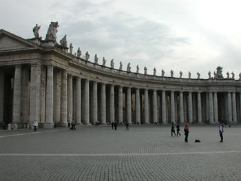 San Pietro's front yard.