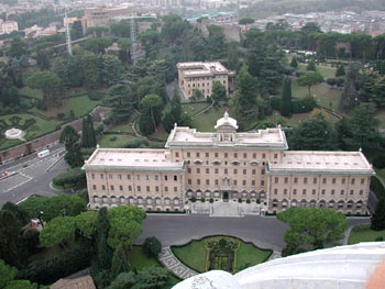 The Pope's yard.