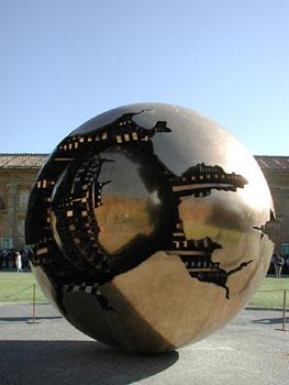 Creepy sculpture at the Vatican.