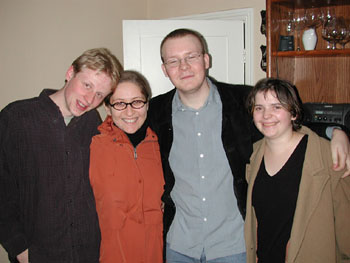 Vika (second from left) with the gang.
